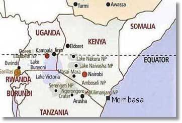 Malaria Kenia Karte.Kenia Karten Mombasa Maps Hochseeangeln