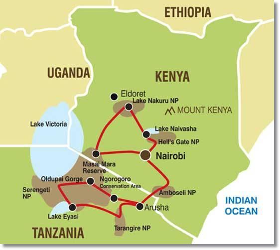 Kenia Karte.Kenia Karten Tansania Maps Camping Safaris