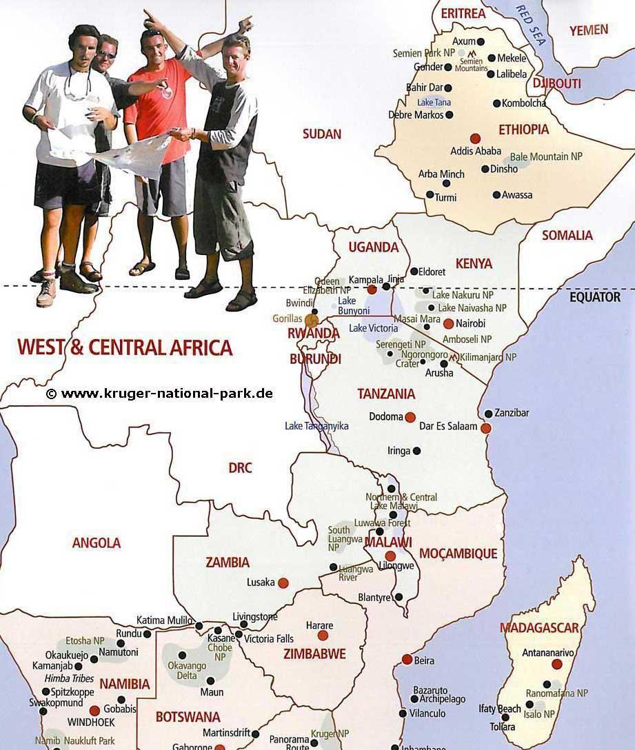 afrika länder und hauptstädte