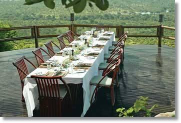 Sabi Sands Restaurants Kruger Nationalpark Ulusaba Luxus Lodge Südafrika
