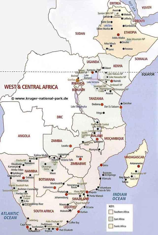 Afrika Karten