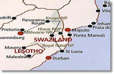 Kruger National Park Swaziland Durban Safari Route