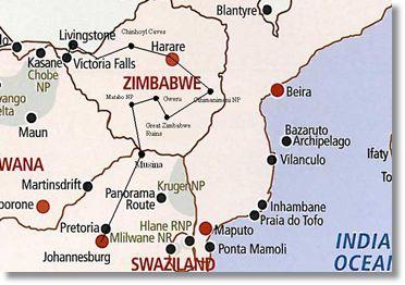 Map Of South Africa And Zimbabwe.Zimbabwe Safari Johannesburg South Africa