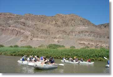 Orange River Camping Safaris in Richtung Namibia