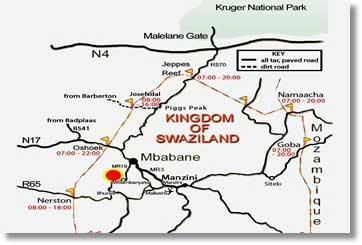 Kingdom of Swaziland Map