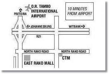Johannesburg Airport Hotel Location